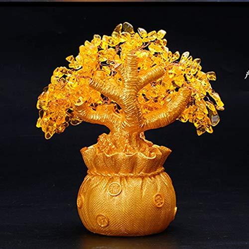 Fefefef citrino albero fortunato albero dei soldi albero dei soldi artigianato creativo regalo casa feng shui decorazione decorazione ufficio,14 * 28