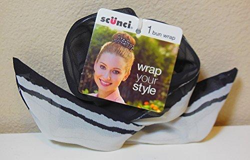 Scunci Wrap Your Style Bun Wrap, Black & White by Scunci Bun Wrap