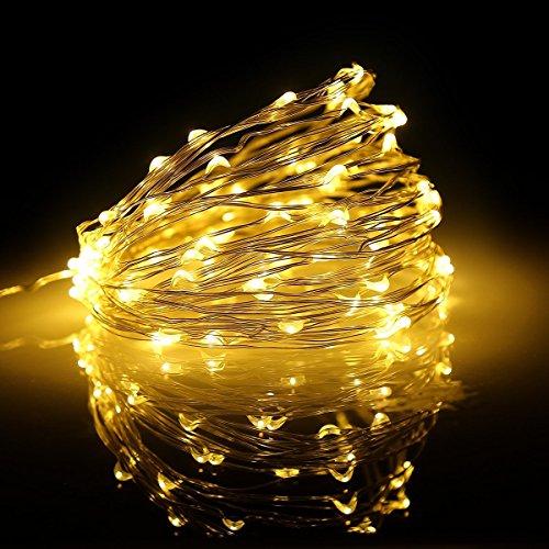 Die Kupfer-baum (Onoper 10M 100 LEDs Kupferdraht LED Kupfer Lichterkette Weihnachtsleuchte sternenklar und romantisch Lampenkette für Weihnachten / Hochzeit / Party Warmweiß [Energieklasse A+])