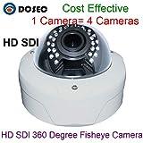360grados wdr 2megapíxeles 19201080360grados de ángulo ancho lente ojo de pez HD SDI cámara Cámara de seguridad de cúpula de,