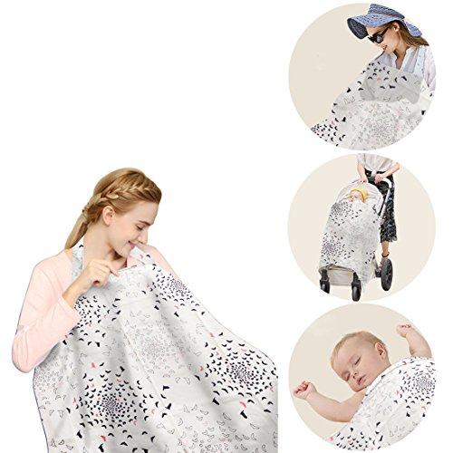 EarthSave Scialle Allattamento 100% Cotone Copertina per Allattamento Pubblico Nursing Cover Breastfeeding Cover