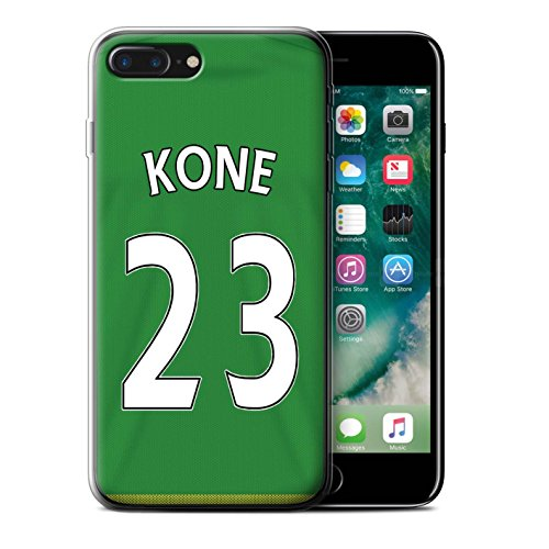 Offiziell Sunderland AFC Hülle / Gel TPU Case für Apple iPhone 7 Plus / Watmore Muster / SAFC Trikot Away 15/16 Kollektion Kone