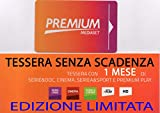 SCHETA TESSERA MEDIASET PREMIUM 1 MESE CALCIO CINEMA SERIE TV DOCOMENTARI SENZA SCADENZA
