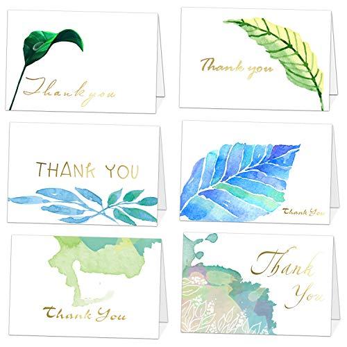 dfolienbeschriftung - 36 Verschiedene Dankeschön-Grußkarten mit Umschlägen für alle Anlässe,Hochzeit,Abschluss,Babydusche,Brautparty,Jahrestag,Geschäft,4 x 6 Zoll ()