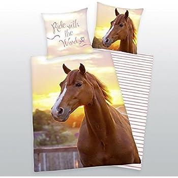 Herding 442485050 Bettwäsche Pferde Motiv, Kopfkissenbezug