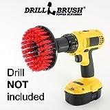 Drillbrush Lourde rouge Duty Brosse de nettoyage à poils durs rouge