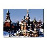Leinwand-Panel Leinwand Russland Moskau Kathedrale St. Basil Schnee Mobel 100x70