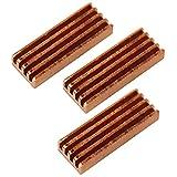 COM-FOUR® Passiver Kupfer Kühlkörper 22 x 8 mm für RAM