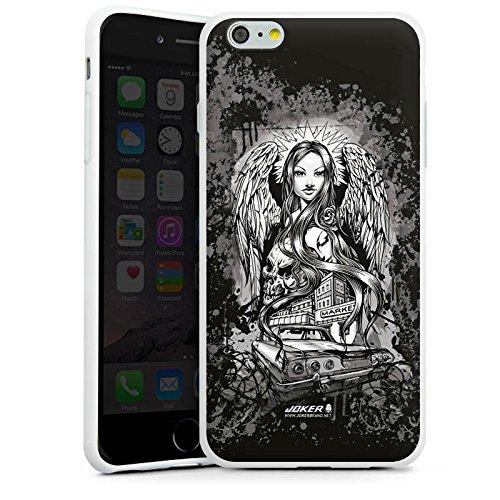 Apple iPhone X Silikon Hülle Case Schutzhülle Joker - Lost Angel Engel Totenkopf Silikon Case weiß