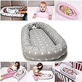 Réducteur de lit bébé de 0 à 6 mois Nest Nid Pod Cocoon #23 Étoiles grises