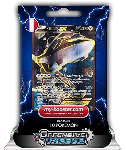 STEELIX EX FULL ART 108/114 180PV XY11 OFFENSIVE VAPEUR - Booster de 10 cartes Pokemon francaises my-booster
