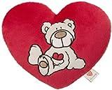 Nici Heart cushion Love bear cream 25cm