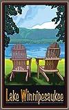 Northwest Art Mall Lake Winnipesaukee Adirondack Stühle Wand Artwork von Joanne KOLLMAN, 11von 43cm
