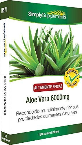 Aloe Vera 6000mg 120 Tabletten Hochkonzentrierter Aloe Vera Extrakt SimplySupplements