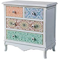 Comparador de precios Casa-Padrino Country Style Shabby Chic Chest of Drawers Antique White 70 x 38 x H. 71 cm - Country Style Collection - precios baratos