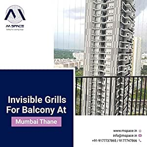 Mspace Invisible Grills for Safety (One sq.ft)