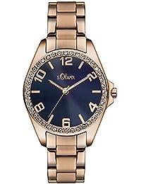 s.Oliver Damen-Armbanduhr Analog Quarz Edelstahl SO-3060-MQ