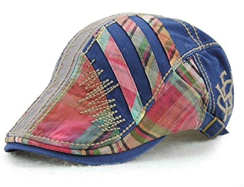 TJBGADIEMS Verstellbare Hochwertiger Baumwoll-Beret Cap Peaked Flat Hat für die Jagd Täglich Tragen Breathable Soft(blau)