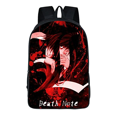 Kostüm Light Yagami Cosplay - yoyoshome Anime Death Note Cosplay Tagesrucksack Schultasche Rucksack Rucksack Schultasche schwarz 7