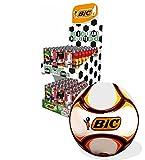 BIC Fußball Fan Paket 100 Stück J26 Tischkicker Edition Plus Fußball zur Fussball WM 2018 Fan Artikel