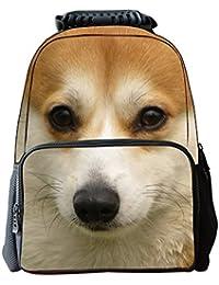 Ohmais Enfant Garçon Fille 3D Sac à dos animaux Sac à main imprimé animal sac d'école Cartable (chien A) eYHElod3xm