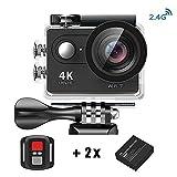 Action Kamera 4K HD Wifi Sport Kamera mit 2.4G Fernbedienung Wasserdicht Zubeh?r-Kit 2.0 LCD Wifi...