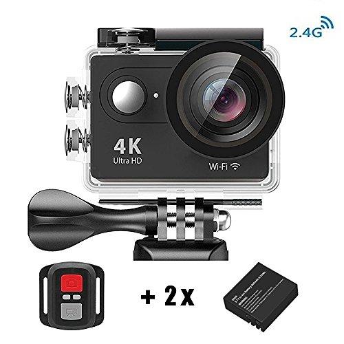 Videocamera 4K WiFi con Telecomando 2.4G, Daping Sport Camera 1080P / 30 fps e Full HD, 2 Pollici Lcd + 170 ° Grandangolare, Impermeabile Fino a 30m, Action Camera WIFI con 2 Batterie + Vari Accessori