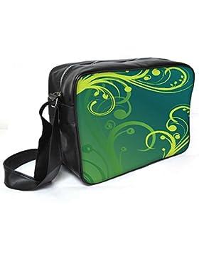 Snoogg Abstract Background Leder Unisex Messenger Bag für College Schule täglichen Gebrauch Tasche Material PU