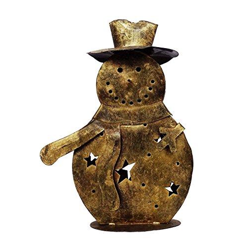Handgefertigte Gold Halloween Dekoration Schneemann Kerzenhalter Tischwohnkultur