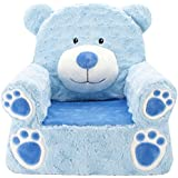 "Sweet Seats Blue Bear Soft Children's Chair Ideal for Children Ages 2 and up, Machine Washable Removable Cover,14"" L x 19"" W x 20"" H"