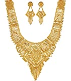 Mansiyaorange Wedding Party Collection Jewellery Neckalce Sets for Women (One Gram Golden 9 Inch Long)