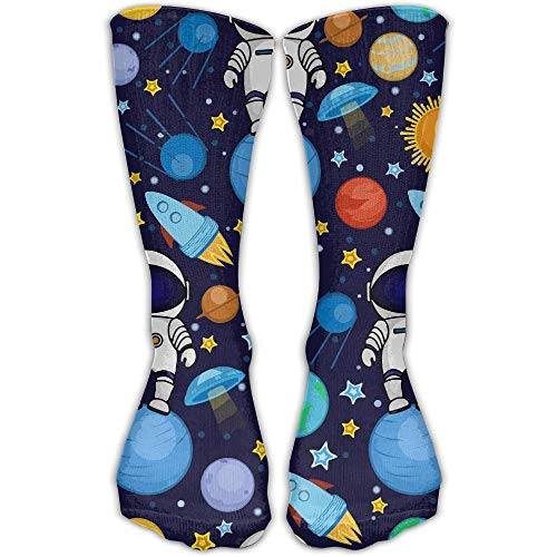 e Astronaut Cool Novelty Long Sock Crew Athletic Tube High Stockings Sport ()