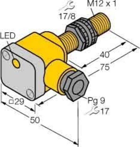 Turck Sensor,ind,M12x1 Ni5-P12SK-AP6X DC,pnp,no,sn=5mm,nb Induktiver Näherungsschalter 4047101143287