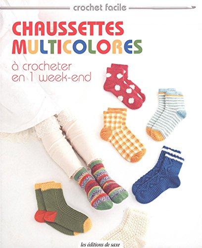 Chaussettes multicolores (Crochet facile)