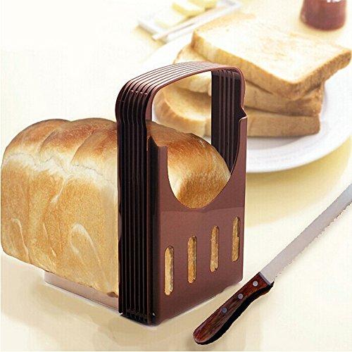 YOKIRIN Taglia pane Pieghevole Cottura Pane Sandwich Pane Toast Slice Affettatrice Fette Anche Strumento di Guida
