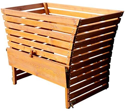 ASS Holz Komposter 1140/520 Liter Volumen extrem Stablil aus Lärche, Größe:1140 Liter