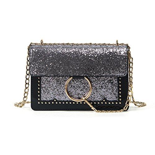 KYFW Womens Schlagen Farbe Kleine Quadratische Paket-Art- Und Weisebeiläufige Handtaschen-wilde Schulter-Beutel-Kurier-Beutel C