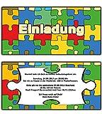 Einladungskarten zum Geburtstag, Party, Feier als in Puzzle-Look Einladung