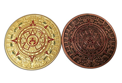 Eillwin Maya-& Azteken Antike Schönes Set von 2zum Sammeln & Souvenir Token GEDENKMÜNZE Geschenk