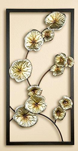 Blumen Flower 1 x Wandrelief Lotusblüte Metall Höhe 80 cm Deko Wandobjekt