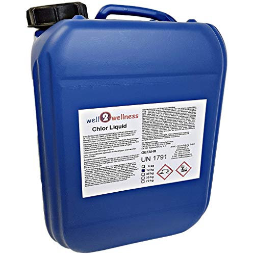 well2wellness Chlor Liquid/Chlorbleichlauge stabilisiert 12,0 kg