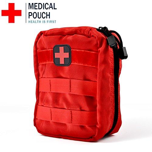 Erste Hilfe Tasche Leer Medizinische Tasche Taktische Rucksack Notfalltasche für Reisen Camping Wandern Radfahren Outdoor ( Farbe : Rot 1# )