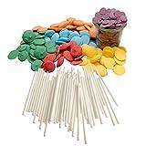 yagma Cake-Pop Set Rainbow/Regenbogen, 1er Pack (1 x 240 g) - rot, orange, gelb, grün, blau, violett
