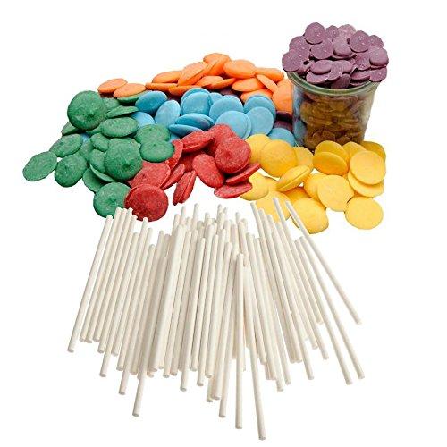yagma Cake-Pop Set Rainbow/Regenbogen, 1er Pack (1 x 240 g) - rot, orange, gelb, grün, blau, violett (Cake Pops Schokolade Für)