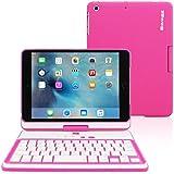 Funda con Teclado para iPad Mini 4, Snugg - Carcasa iPad Mini 4 Giratoria 360° con Teclado Bluetooth Y Garantía De Por Vida Para Apple iPad Mini 4