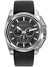 Esprit Herren-Armbanduhr TP10871 Black Analog Quarz Leder ES108711001
