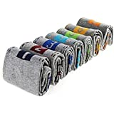 PINKIT Cotton with Nylon 7 Days Week Casual Ankle Length Socks with Printed Numbers For Men/Boys (Grey) - (Combo Set of 7 Pair) UK Size - (7 - 11) Free Size
