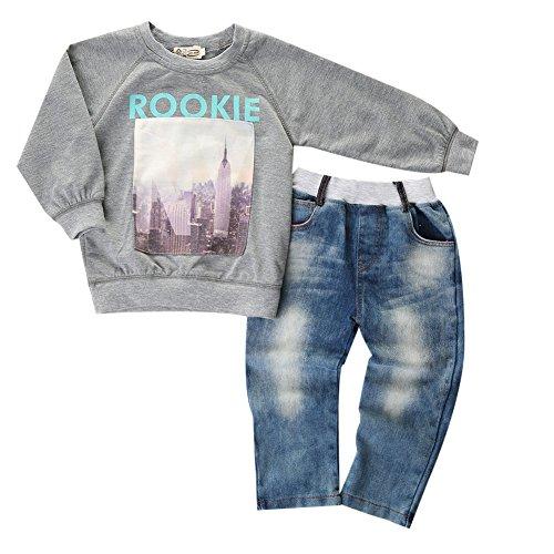 BriskyM Garçon Pullover Sweatshirt et Pantalon Jeans BriskyM