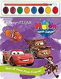 Disney/Pixar Malen nach Zahlen: Malbuch mit 8 Wasserfarben und Pinsel