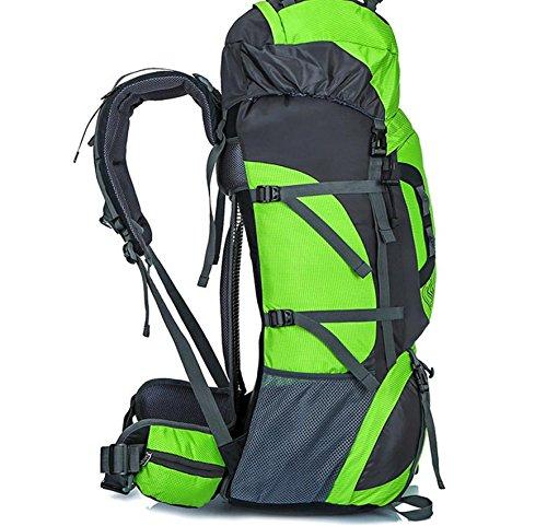 Doppia borsa a tracolla uomo outdoor alpinismo professionale grande capacità zaino , orange Green